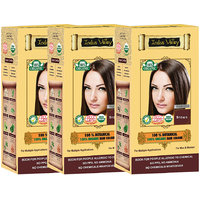 Indus Valley 100 Organic Botanical Brown Hair Color - Set Of 3