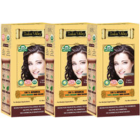 Indus Valley 100 Organic Botanical Light Brown Hair Color - Triple Pack