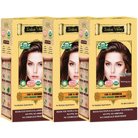Indus Valley 100 Organic Botanical Mahogany Hair Color - Triple Set