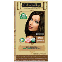 Indus Valley 100 Organic Botanical Dark Brown Hair Color - One Touch Pack