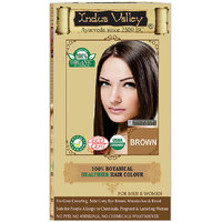 Indus Valley 100 Organic Botanical Brown Semi-permanent Hair Color - One Touch Pack