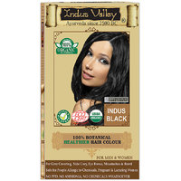 Indus Valley 100 Organic Botanical Indus Black Hair Color - One Touch Pack