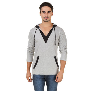 Aurelio Marco Stylish Designed Millange Black Hooded Men T Shirt