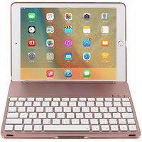 "Magideal 7 COLORS Backlit Bluetooth Keyboard Smart Folio Case For IPad Pro 9.7\"" Rose"