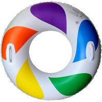 Magideal Inflatable Swim Ring Fun Rainbow Color Swimming Pool Float Raft 70cm