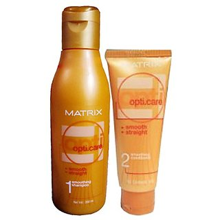 Matrix Opti Care Smooth Straight Professional Ultra Smoothing Shampoo 400 Ml + Conditioner 196 G