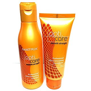 Matrix Opticare Smooth 200Ml Shampoo  98 Gm Conditioner Combo