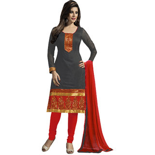 Trendz Apparels Grey Embroidered Un Stitched Dress Material TARNSARV1006