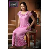 Womens 1pc Satin Nighty Pink C...