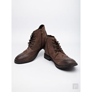 Steve Madden Mansel Brogue Boots (Brown)