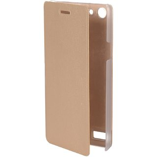 Flip Case For Oppo Neo 7 (Gold Color)