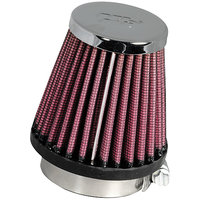 K&N - Replacement  Chrome Air Filter - BIKE UNIVERSAL UPTO 200CC