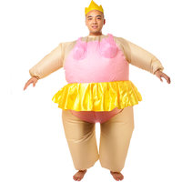 Magideal Inflatable Ballerina Fancy Dress Costume Fat Suit Stag Night Outfit
