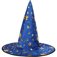 Magideal Kid's Wizard Hat Witch's Pointed Hat Halloween Fancy Dress Costume Rose Blue
