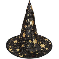 Magideal Kid's Wizard Hat Witch's Pointed Hat Halloween Fancy Dress Costume Black