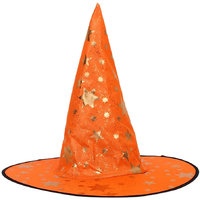 Magideal Kid's Wizard Hat Witch's Pointed Hat Halloween Fancy Dress Costume Orange