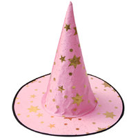 Magideal Kid's Wizard Hat Witch's Pointed Hat Halloween Fancy Dress Costume Pink