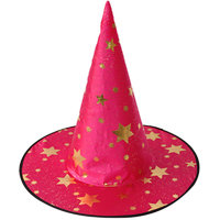 Magideal Kid's Wizard Hat Witch's Pointed Hat Halloween Fancy Dress Costume Rose Red