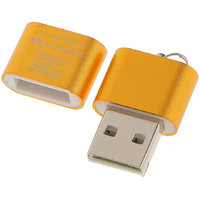 Magideal High Speed Mini USB 2.0 Micro SD TF T-Flash Memory Card Reader Adapter Gold