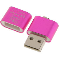 Magideal High Speed Mini USB 2.0 Micro SD TF T-Flash Memory Card Reader Adapter Pink