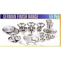 STAINLESS STEEL GERMAN FINISH RANGE 55 PCS DINNER SET