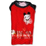 Black And Red Pet T- Shirt For Dogs