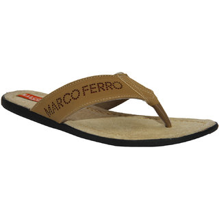 Marco Ferro Slick Chikoo Men's Slippers