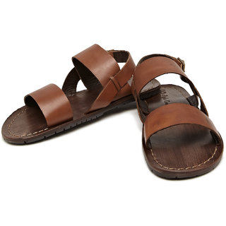 Style Centrum Smart Leather Buckle Sandals (Brown)