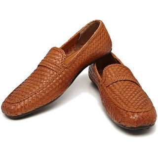 Style Centrum Woven Leather Loafers (Brown)