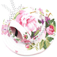 Magideal Pet Dog Cat Kitten Flower Princess Mesh Strap Hat Cap Sunbonnet Size M