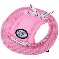 Magideal Pet Dog Cat Kitten Princess Mesh Strap Hat Cap Sunbonnet Size M - Pink