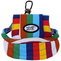 Magideal Small Pet Dog Cat Kitten Rainbow Baseball Hat Strap Cap Sunbonnet M