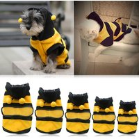 Magideal Pet Hoodie Clothes Dog Cat Coat Puppy Apparel Fancy Bee Costume Outfit L