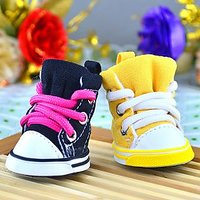 Magideal Pet Dog Puppy Sporty Shoes Boots Casual Lace-Up Booties Doggy Shoes Black L