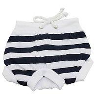 Magideal Female Pet Dog Diaper Sanitary Pant Panty Underwear Black White Stripe S