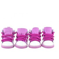 Magideal Pet Dog Puppy Sporty Shoes Boots Casual Lace-Up Booties Doggy Shoes Pink Xs