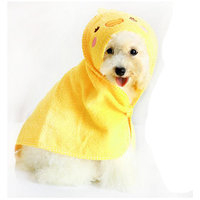 Magideal Pet Dog Cat Duck Design Puppy Bath Towel Bathrobes Pajamas Blanket Yellow L