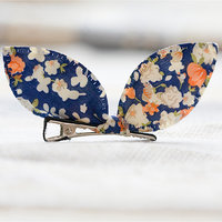 Magideal Cute Pet Dog Cat Puppy Bunny Flower Hairpin Hair Bows Tie Grooming Clip Navy