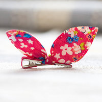 Magideal Cute Pet Dog Cat Puppy Bunny Flower Hairpin Hair Bows Tie Grooming Clip Red