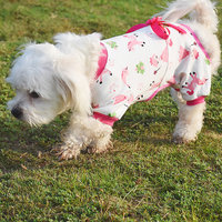Magideal Pet Dog Puppy Cotton Clothes Soft Pajamas Cartoon Jumpsuit Apparel Pink M