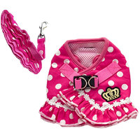 Magideal Pet Dog Dotted Cloth Harness Suit Puppy Mesh Collar Chest Strap Vest Red L