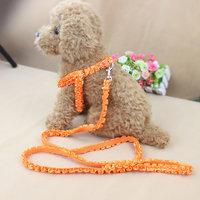 Magideal Adjustable Pet Dog Belt Nylon Lead Leash Collar Harness Safety Strap Orange