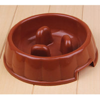 Magideal Interactive Dog Slow Feeder Anti-Gulping Bowl Non Slip Food Maze--Coffee