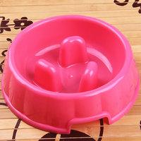 Magideal Interactive Dog Slow Feeder Anti-Gulping Bowl Non Slip Food Maze--Pink