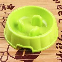 Magideal Interactive Dog Slow Feeder Anti-Gulping Bowl Non Slip Food Maze--Green