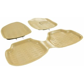 Pegasus Premium Car 4D Mat Beige With Crocodile Texture (Set Of 4) For Hyundai Xcent