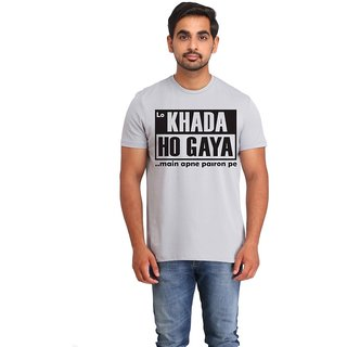Snoby Khada ho gaya cotton printed T-shirt (SBY16372)