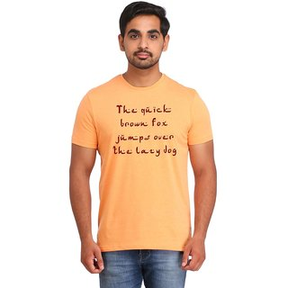 Snoby Printed Text cotton T-shirt (SBY16416)