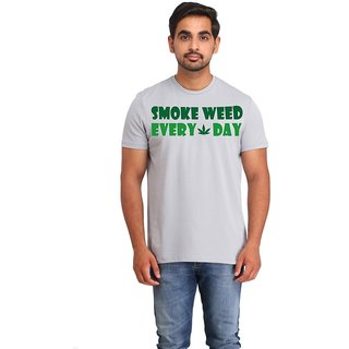 Snoby Smoke weed everyday cotton printed T-shirt (SBY16435)