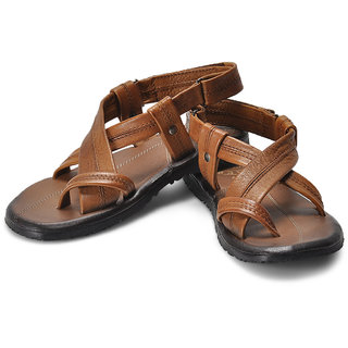 Alberto Torresi Smart Strappy Leather Sandals (Brown)